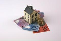 Wohnungsbaudarlehen mit dem australischen Dolor Lizenzfreies Stockfoto