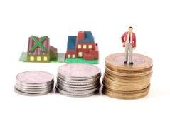 Wohnungsbaudarlehendruck lizenzfreie stockbilder