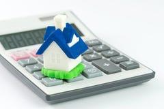 Wohnungsbaudarlehentaschenrechner Stockbild