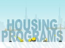 Wohnungsbauprogramm-Durchschnitt-Wohnungs-Plan und Zeitplan Stockbild