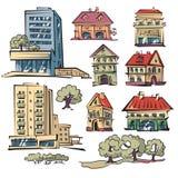 Wohnungshäuser vektor abbildung