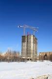 Wohnungshaus im Bau Lizenzfreies Stockbild