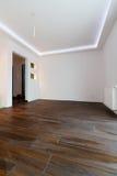 Wohnungsinnenraum nach Erneuerung Stockbild