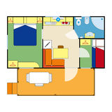 Wohnungsplan Lizenzfreie Stockbilder