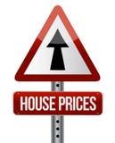 'Wohnungspreisaufstiegs' Zeichen Stockbild