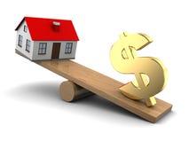 Wohnungspreiskonzept Lizenzfreies Stockfoto