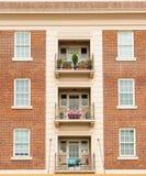 Wohnungssymmetrie des roten Backsteins Lizenzfreies Stockfoto