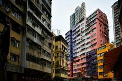 Wohnungswohnung Hong Kongs mit hoher Dichte lizenzfreies stockfoto