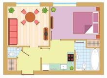 Wohnungszeichnung Lizenzfreie Stockfotos