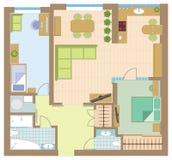Wohnungszeichnung Lizenzfreies Stockbild