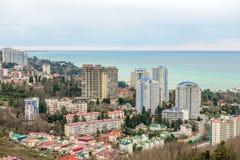 Wohnviertel auf Küste in Sochi Stockbilder