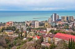 Wohnviertel auf Küste in Sochi Russland Stockbilder