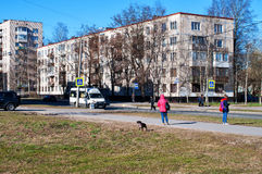 Wohnviertel des St Petersburg, Russland Stockbilder