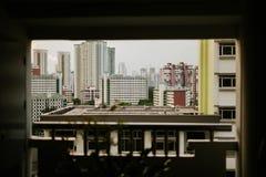 Wohnviertel in Singapur stockbilder