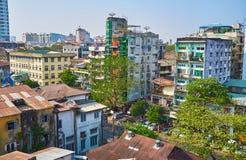 Wohnviertel von Rangun, Myanmar Stockfotografie