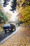 Wohnwagen, der in Acadia-Nationalpark fährt Lizenzfreie Stockfotografie