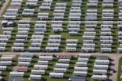 Wohnwagensiedlungantenne Stockfotos