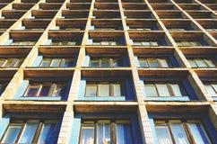 Wohnzellen des Herbergesgebäudes Lizenzfreies Stockfoto