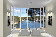 Wohnzimmer 3D Lizenzfreie Stockfotografie