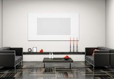Wohnzimmer 3D vektor abbildung
