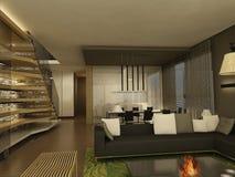 Wohnzimmer 3d Stockfotos