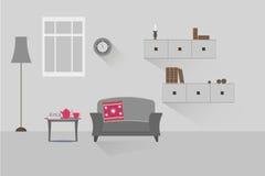 Wohnzimmer 9 lizenzfreie abbildung
