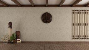 Wohnzimmer in der ethnischen Art vektor abbildung