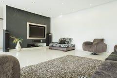 Wohnzimmer in der modernen Art Stockbilder