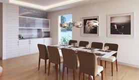Wohnzimmer in einer modernen Art Stockbilder