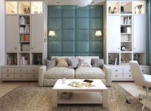Wohnzimmer in einer modernen Art Lizenzfreie Stockbilder