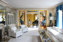 Wohnzimmer Graceland Elvis Presleys Stockfotos