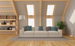 Wohnzimmer im Dachboden Lizenzfreie Stockfotos
