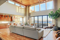 Luxuriöses Wohnzimmer Lizenzfreie Stockfotografie