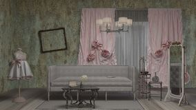 Wohnzimmer, Innenarchitektur Stockfoto