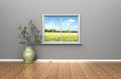 Wohnzimmer mit einer Ansicht Stockbilder