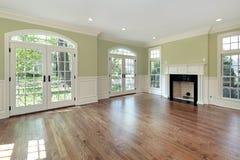 Wohnzimmer mit grünen Wänden lizenzfreies stockbild