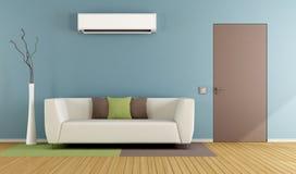 Wohnzimmer mit Klimaanlage vektor abbildung
