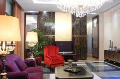 Wohnzimmer, moderne chinesische Art Lizenzfreies Stockfoto