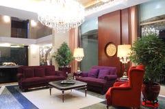 Wohnzimmer, moderne chinesische Art Lizenzfreie Stockfotos