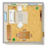 Wohnzimmer-Plan Stockfotos