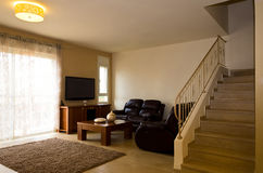 Wohnzimmer und oben Stockbilder