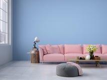 Wohnzimmerdachbodeninnenraum Wiedergabe 3d lizenzfreie stockfotos