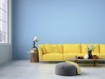 Wohnzimmerdachbodeninnenraum Wiedergabe 3d stock abbildung