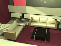Wohnzimmerinnenraum lizenzfreie abbildung