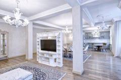 Wohnzimmerinnenraum im modernen Haus Lizenzfreies Stockbild