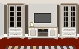 Wohnzimmerinnenraum mit Möbeln Lizenzfreie Stockbilder