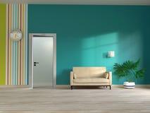 Wohnzimmerinnenraumschablone Lizenzfreie Stockbilder