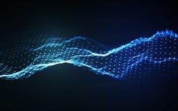 Woice agita vector del fondo EPS 10 Vector abstracto de la onda acústica Frecuencia del pulso de la voz de la mujer stock de ilustración