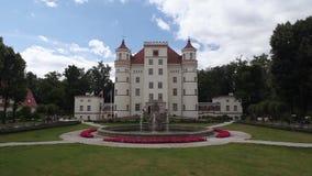 Wojanow Palace in Poland stock footage