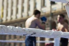 wojenne sztuki Walka w pierścionku abstrakcjonistyczny rozmyty obrazek zdjęcia royalty free